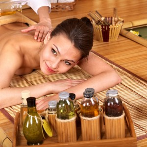 Massage using Pre-Blended Aromatherapy Oils